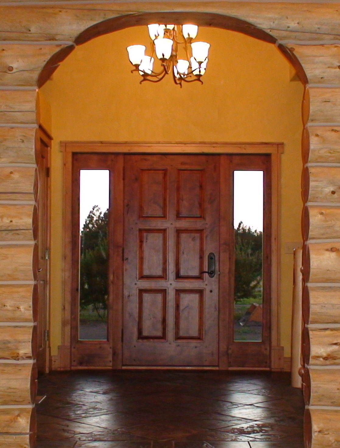 Home entrance door wood exterior doors with glass for Wooden outside doors