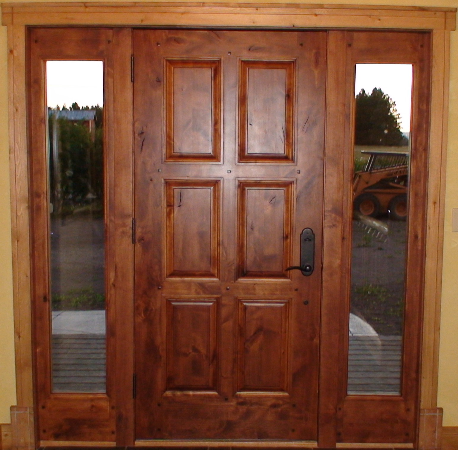 Interior exterior solid wood doors in washington for Hardwood front doors